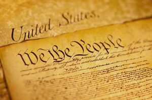 Photo of the preamble to constitution the United States of America