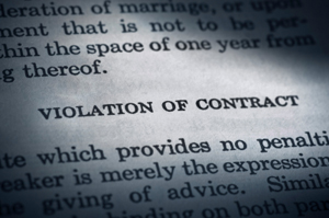 Photo of a violation of contract