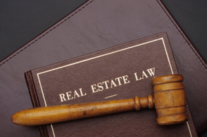 Photo of a real estate law book