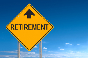 Photo of a retirement sign