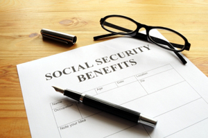 Photo of a social security benefits document