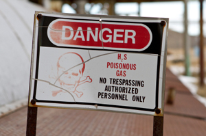 Photo of a poisonous gas warning