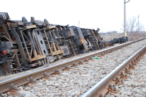 Photo of a train accident