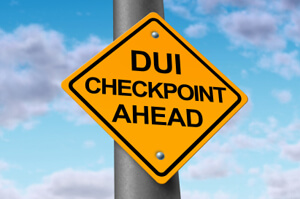 Photo of a DUI checkpoint sign